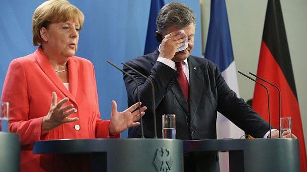 Ангела Меркель и Петр Порошенко