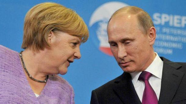 Ангела Меркель, Володимир Путін