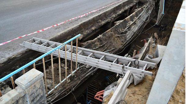 В Луганске обвалился мост