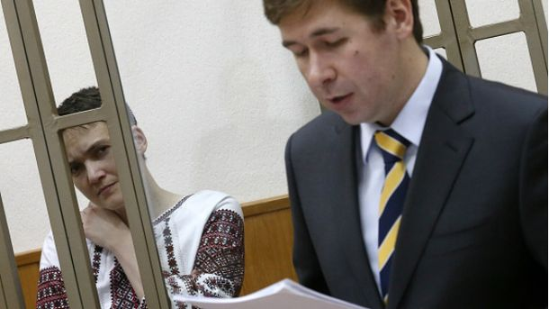 Надежда Савченко с адвокатом