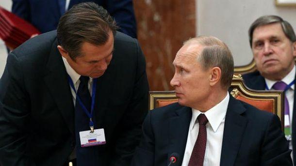 Сергій Глазьєв, Володимир Путін