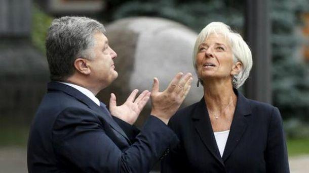 Петр Порошенко, Кристин Лагард
