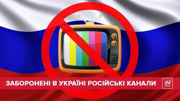 Заборонені російські канали
