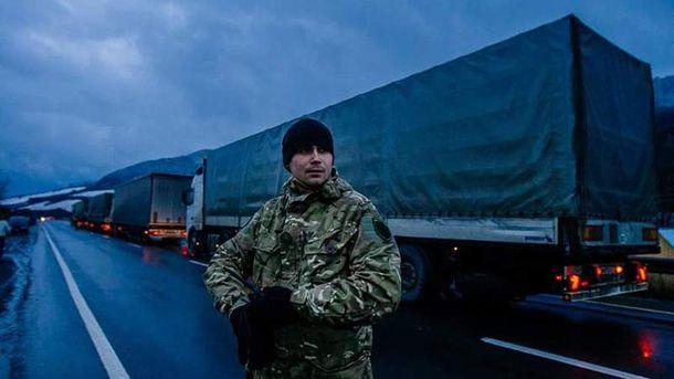 Блокировка российских грузовиков