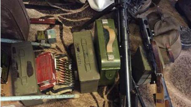 Арсенал оружия нашли в Киеве