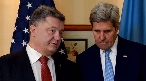 Петр Порошенко и Джон Керри