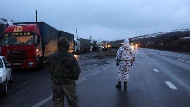 Блокирование российских грузовиков