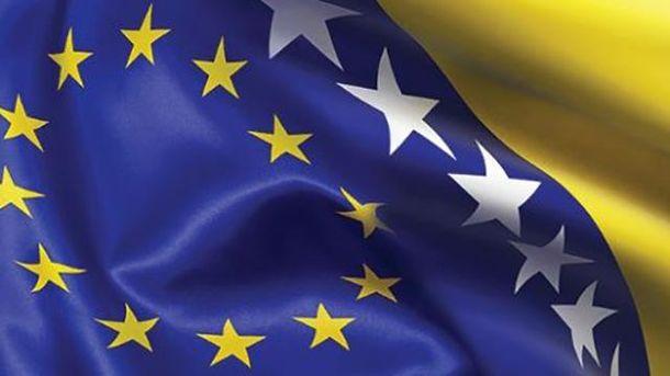 Прапори ЄС та Боснії