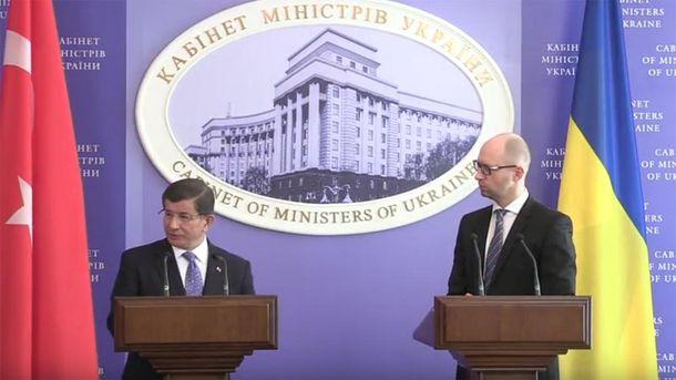 Ахмет Давутоглу и Арсений Яценюк