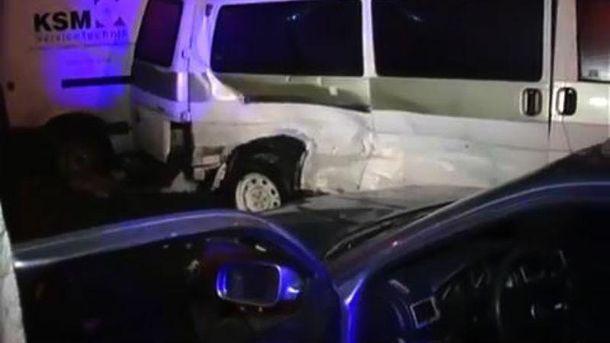 Місце аварії в Києві