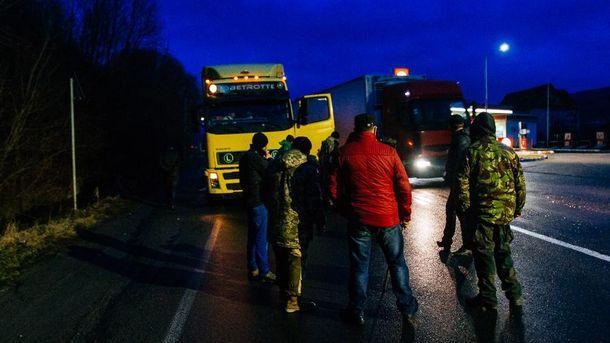 Блокада российский грузовиков