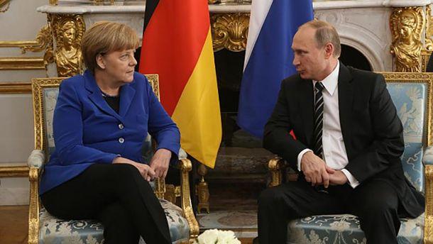 Ангела Меркель і Володимир Путін