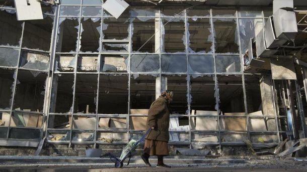 Разрушение в Донецке