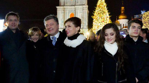 Петр Порошенко с семьей