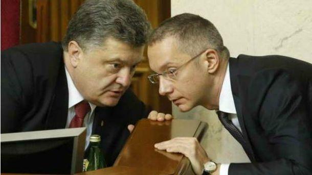 Петр Порошенко и Борис Ложкин
