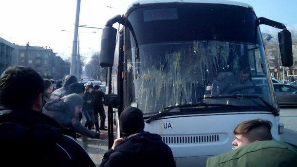 Акция протеста в Запорожье