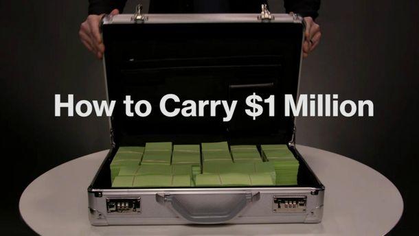 Как перевезти 1 миллион долларов
