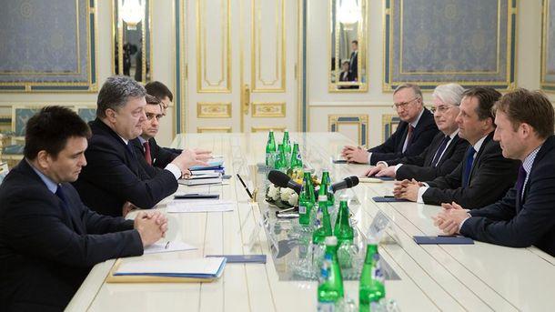 Встреча Порошенко с голландскими депутатами