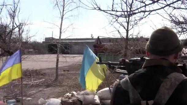 Українські військові в Авдіївці