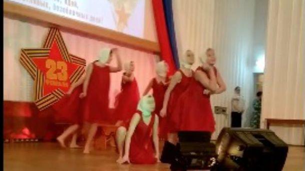 Патриотический танец в Керчи