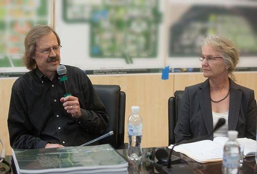Концепцію BIONIC Hill представляють американські архітектори Бертон Міллер і Елізабет Шрив (Київ, 2013 рік)