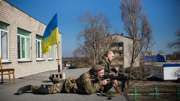 Українські військові у Широкиному