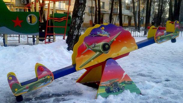 Детская площадка в стиле милитари