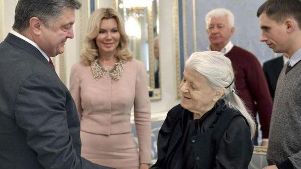 Валерія Вірська з Петром Порошенком