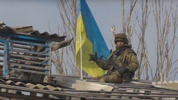 Украинский боец в Широкино