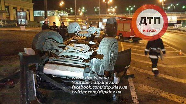 Масштабная авария в Киеве