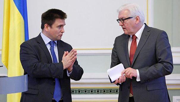 Климкин и Штайнмайер эмоционально поговорили о Донбассе в Берлине