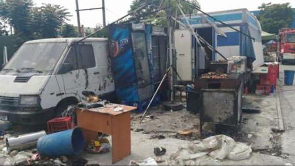 В итоге взрыва нарынке Бухареста 12 человек получили ранения