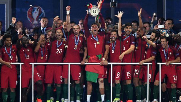 Сборная Португалии впервый раз  стала сильнейшей вевропейских странах  — Новый чемпион