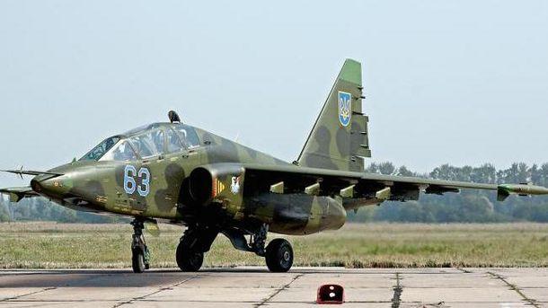 В Україні спалахнув військовий літак