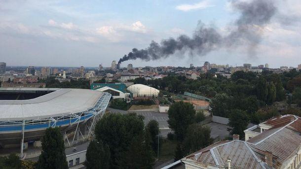 """Вцентре Днепра полыхает новостройка"""""""