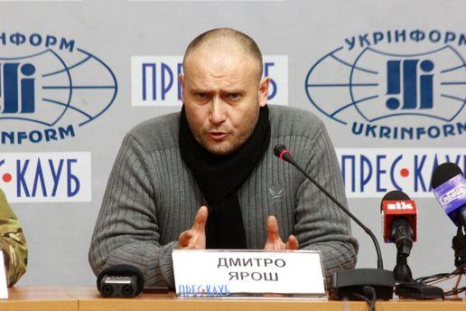 Ярош дал Порошенко несколько советов, как реагировать на провокации в Крыму