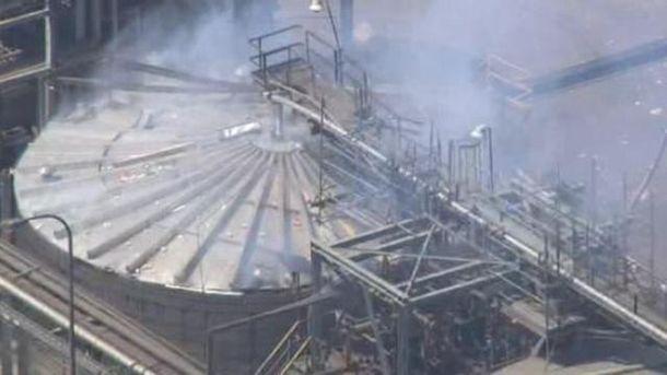 Накрупнейшем нефтеперерабатывающем заводе вКалифорнии произошел взрыв