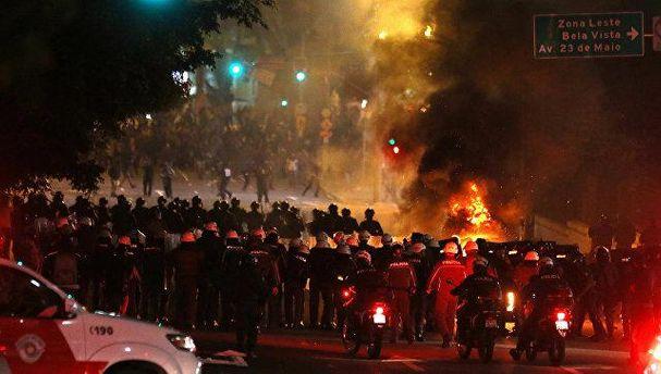 Столкновения в Бразилии