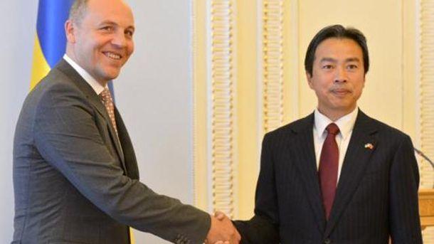 Андрей Парубий и посол Китая Ду Вэй
