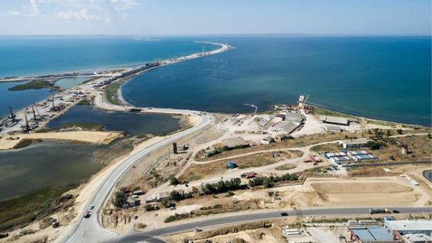 Будівництво злощасного Керченського мосту