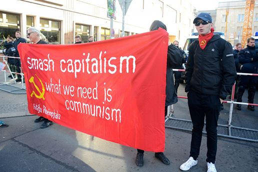 Акции протеста в Берлине