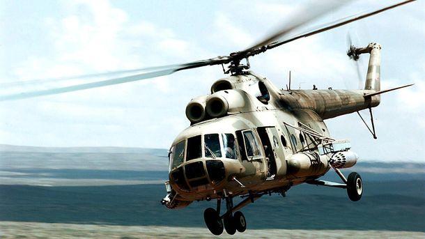 Вертолет сгорел