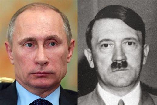 Владимир Путин и Адольф Гитлер