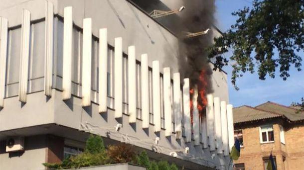 Пожар в офисе