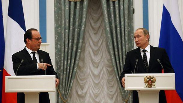 Фрасуа Олланд і Володимир Путін