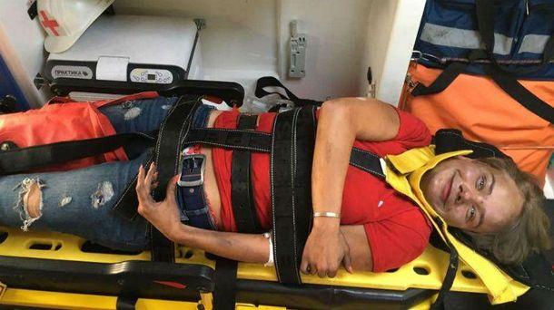 У журналистки диагностировали травму позвоночника