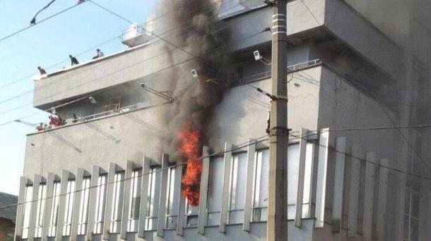 Пожар в здании