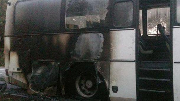 Загорелся рейсовый автобус Калуш – Киев