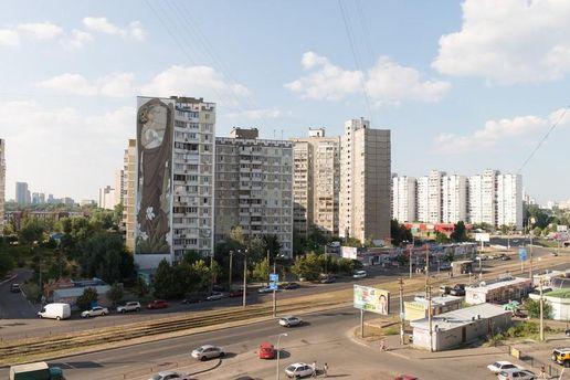 16-этажный мурал на Троещине