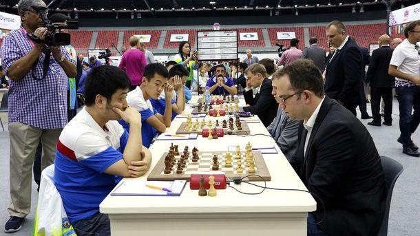 Китайские и украинские шахматисты